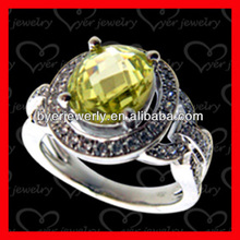 AAA+ CZ stone and mirco setting 925 silver ring with high end quality