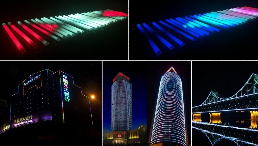 2018 china manufacturer colorful programmable DMX digital led rgb tube