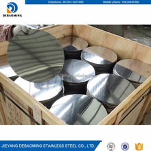 Quality stainless steel slit edge mirror polished 410 stainless steel circle disc
