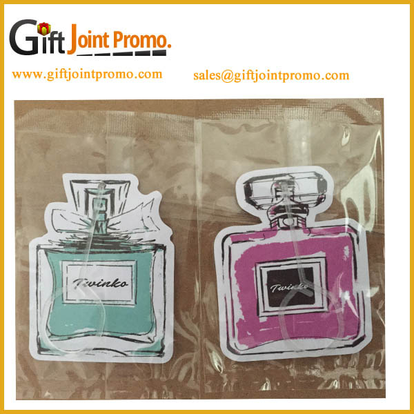 Promotional Hanging Paper Type air freshener for car
