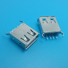 Female 180 degree 4 pin dip 2.0 a type usb connector