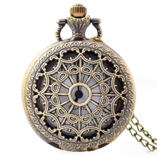 custom design antique steampunk quartz pocket watch necklace