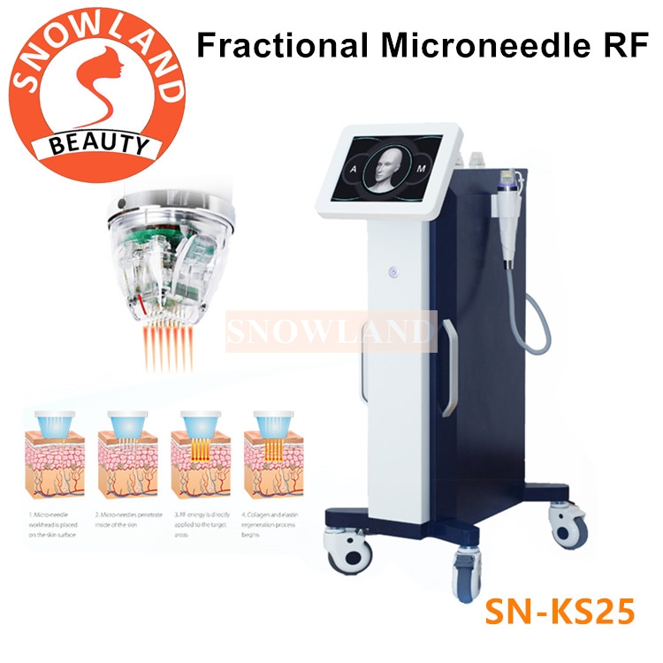 Fractional Microneedle RF Machine for Acne Scar Stretch Marks Removal