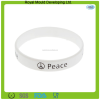 2015 Cheap Wholesale Price Coloful White Color Band with Custom Printing Silicone Bracelet