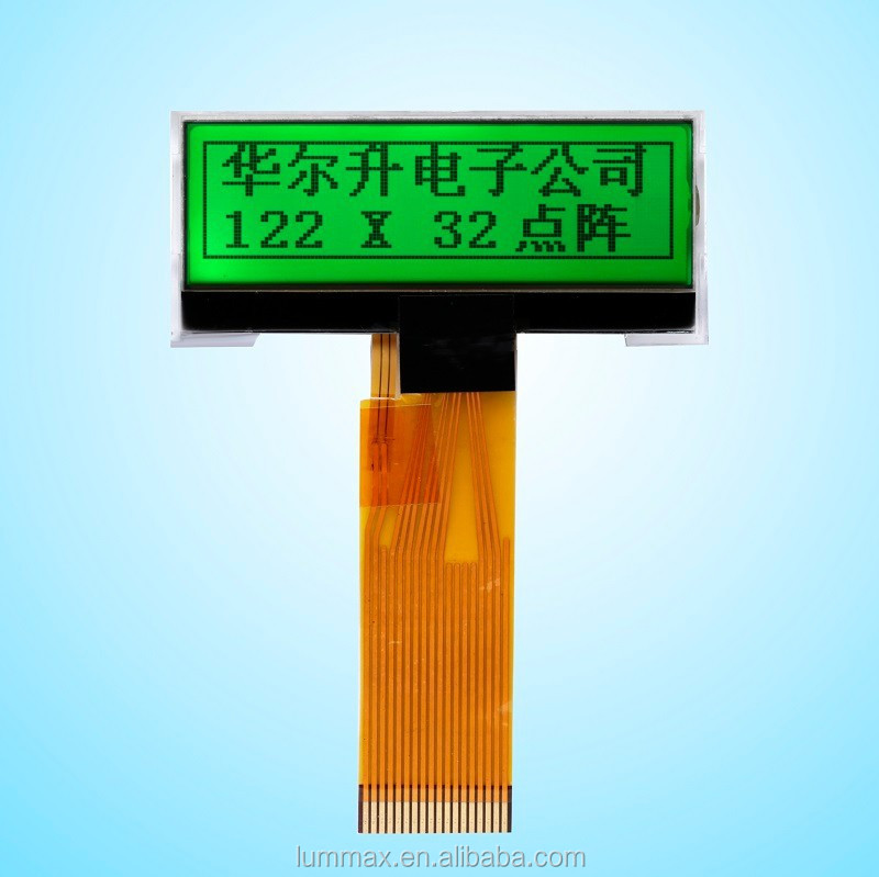 STN COG yellow green 122x32 Dot Matrix LCD Module