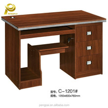 MDF fireproof office desk computer table specifications with three drawers