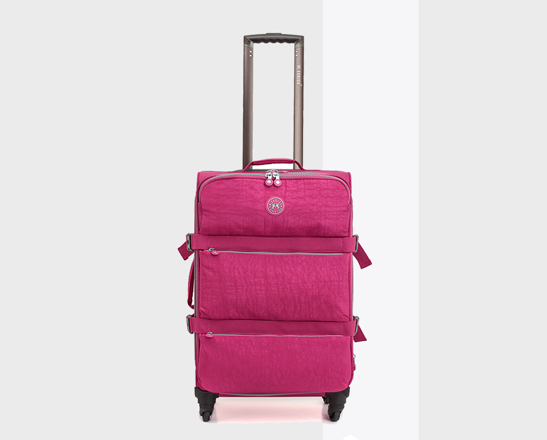High quality airport polyester trolley luggage, 600d polyester soft side luggage soft luggage