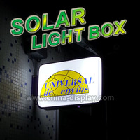 Outdoor aluminum frame vacuum form display led sign solar energy light box