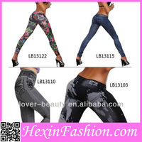Free Shipping Mix Order Fashion Printed Elegant Winter Cheap Wholesale Leggings