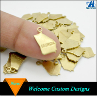 Fashion jewelry gold tone zinc alloy us ohio state charms for diy