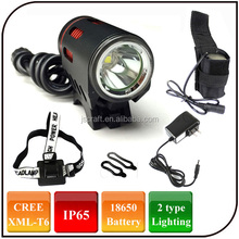 Dual Light Source Rechargeable CREE XML T6 LED Headlamp Cycling Head Bike Bicycle Front light