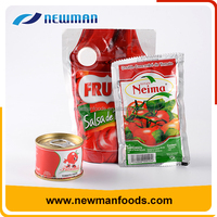 Latest salad dressing tomato sauce cheap manufacturer price canned tomato paste