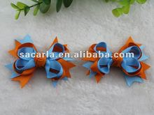 baby blue, orange, 3.5 inch small hair bows for baby