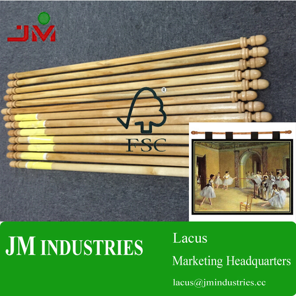 Paintings wood rods with high quality finials