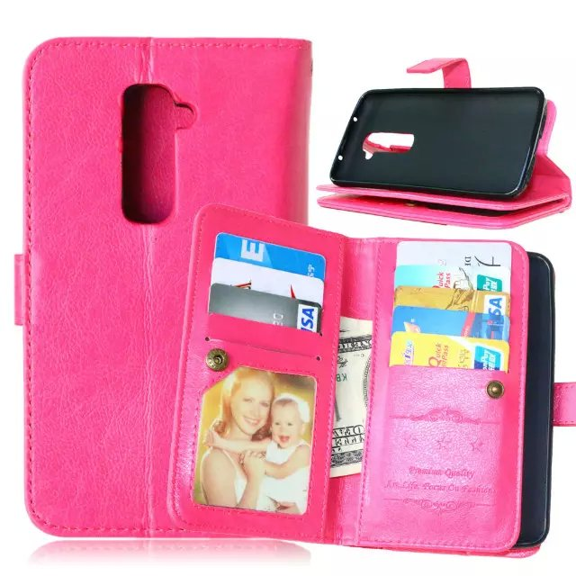 For LG G2 Hot Magnetic Flip PU Leather Wallet Case with Photo Frame Card Holder Stand fundas Mobile Phone Cover cases