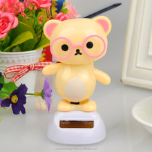 wholesale dolls bear toy flip flap solar kid toy solar swing bear toy for car decoration factory wholesale desk toy