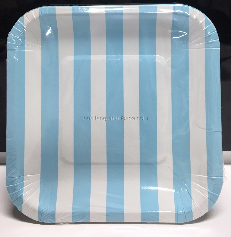 Square paper plates exporter,diposable paper plate, wedding cake paper plates