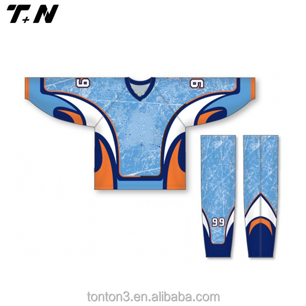 Men School Team Brand Design Logo Stripe Custom Ice Hockey Uniform