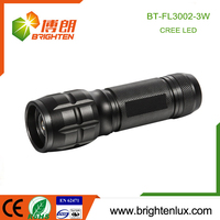Hot Sale Beam Adjustable Focus Pocket Outdoor Usage Aluminum Alloy Dry Battery Powered EDC 3W Cree Brightest strong light torch