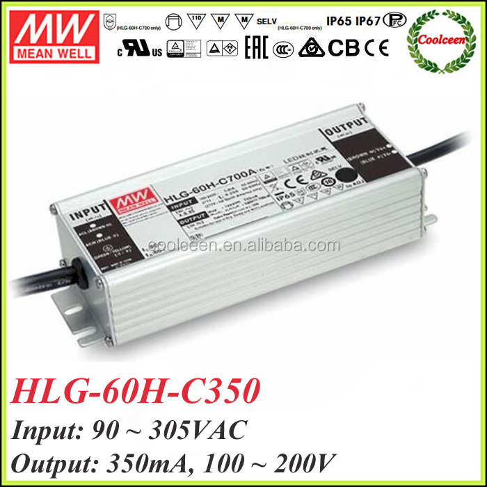 Meanwell HLG-60H-C350 350ma dimmable led driver