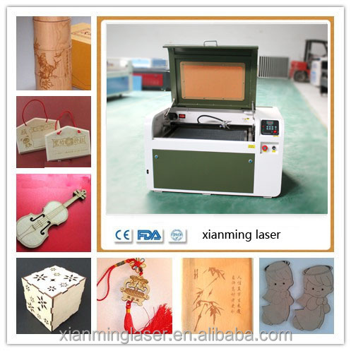 small laser wood cutting machine/laser acrylic cutter glass cup laser engraver 2years warranty 40W