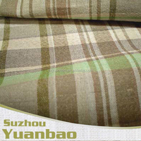 yarn dyed cotton linen spandex fabric wholesale