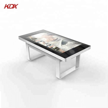 Interactive indoor LED ITO multi touch screen coffee table for game/conference/restaurant