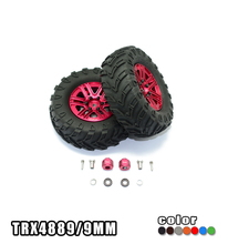 "GPM 1.9"" ALUMINUM 6 SPOKES BBS RIMS WITH ONROAD TIRES AND 9MM THICK ALLOY HEX -12PC SET RC CAR UPGRADE FOR TRAXXAS TRX4 DEFENDER"