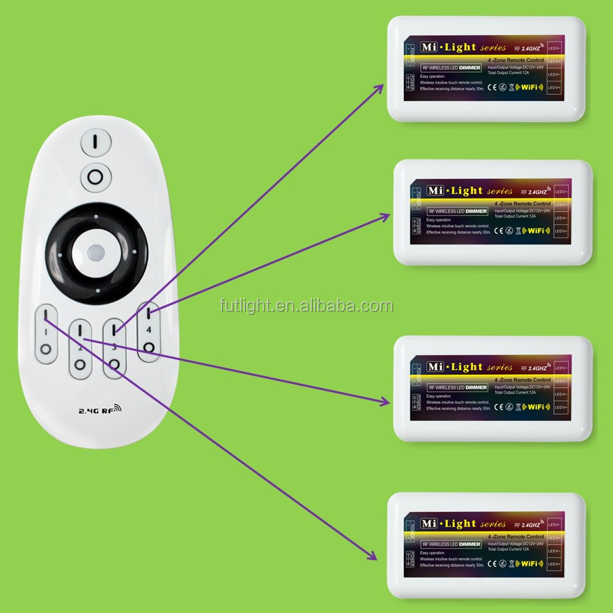 qualified rf wireless remote control rgb light switch,wifi led strip controller for smarthome / outdoor lighting