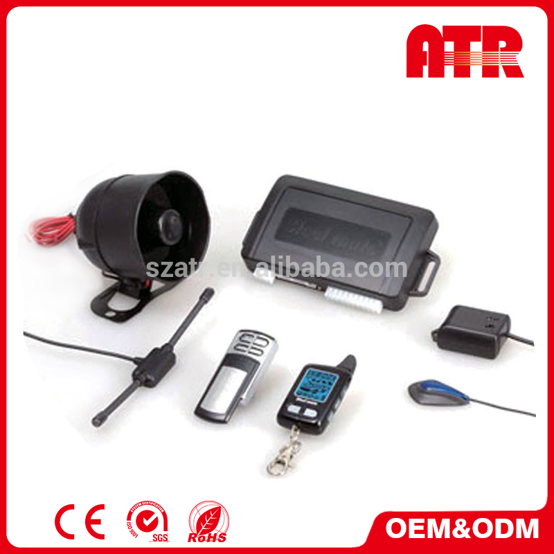 Remote shock sensor bypass DC 12V 433.92 MHz car security alarm system