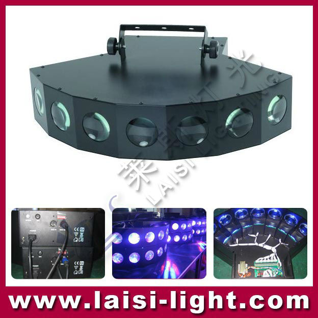 High Quatily RGB LED Laser Seven Eyes Light,Dynamic color mixing RGB Laser light