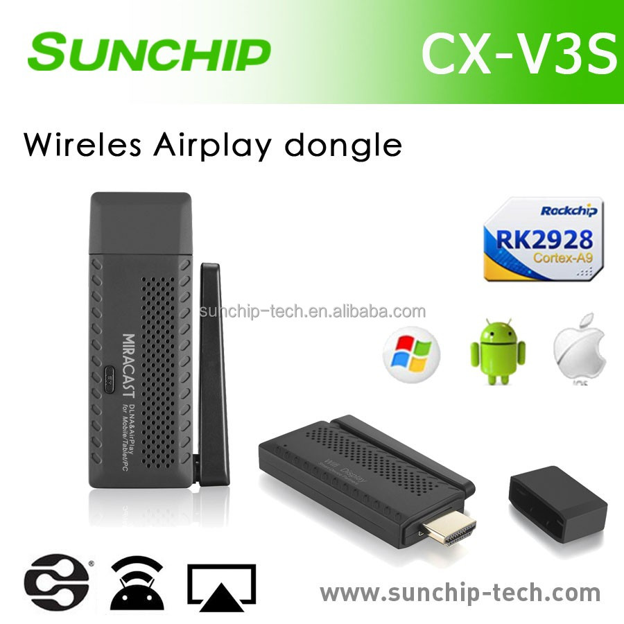 TV dongle CX-V3S Rockchip 2928 android smart tv dongle miracast chromecast android tv box