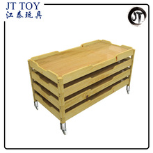 Factory Price High Quality Kindergarten Wooden Kids Furniture Bed
