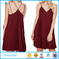 Fashion mini chiffon dress for girls to join holiday party