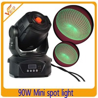Guangzhou new professional camera stage background decoration light 90W mini moving head light