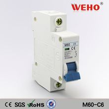 Factories Wenzhou C45N M60-C6 1P N Automatic Mini Circuits Breakers Mcb Parts 6A