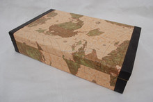 Crates Wine Box 6 bottle Crates Gift Box with World map