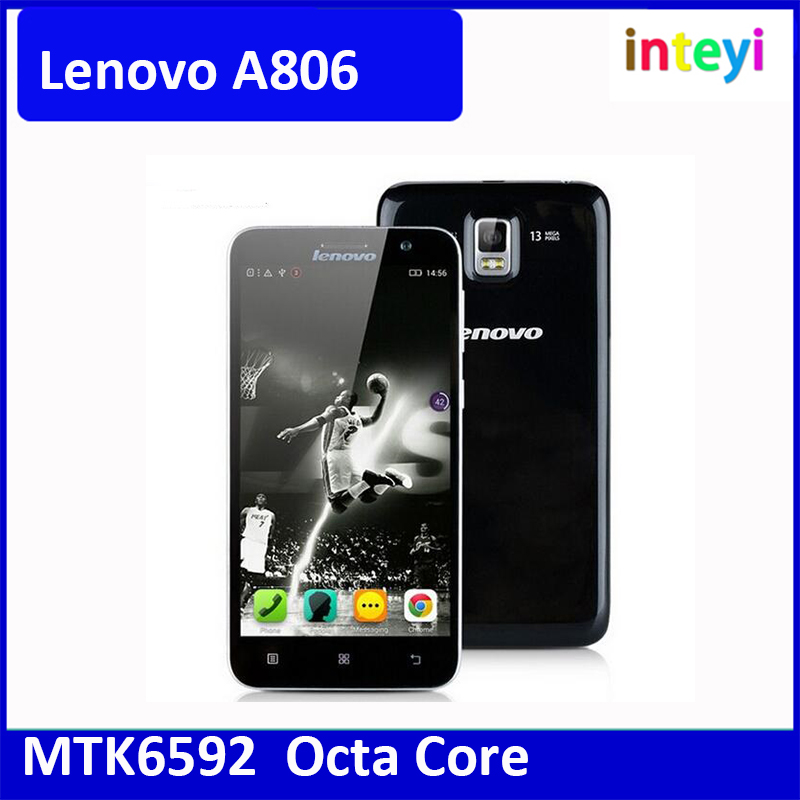"Original Lenovo A806 A8 5.0"" IPS HD MTK6592 Octa Core Android 4.4 4G LTE FDD wcdma Unlocked Mobile Phone 2GB RAM 16GB ROM 13MP"