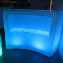 Coolqing Luminous Bar Counter Furniture Luminous Led Bar Table High Bar Table