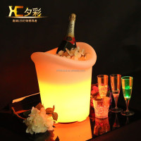 Small Luminous Wine Cooler Bar Glowing Beverage Holder Club Champagne Ice Bucket