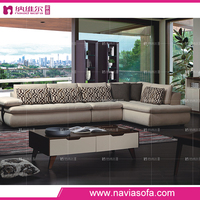 Italian style cheap luxury chaise lounge sofa set modern l shape corner upholstery fabric sofa