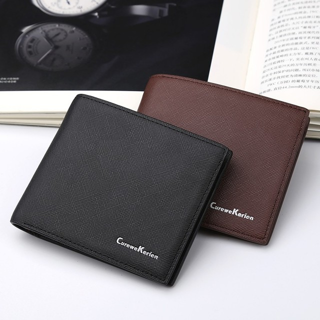 new mens wallets brand names high quality business purse classic male short leather clutch card holder wallet bags fashion 2017