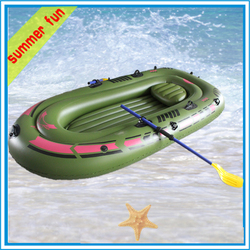 Wholesale Rowing Boat Plastic paddles Inflatable double boat