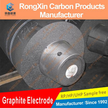 China Supplier UHP Graphite Electrode with Nipple for Glass Industry