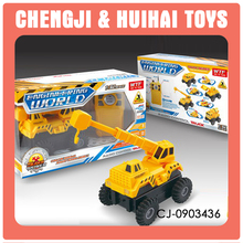 Wholesale radio control vehicle 4 channel rc construction toy trucks