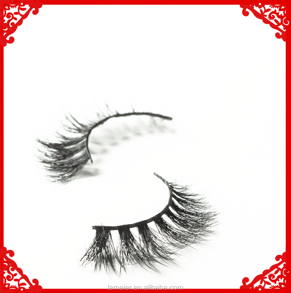 3D Mink False Eyelashes, Layered Wispy Lashes - Miami & Lilly Long Party Natural