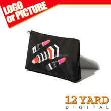 Customized Canvas Zippered Pouch make up bag promotional& cosmetic bag