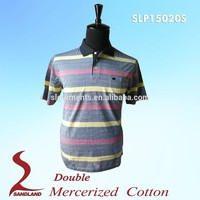 High quality most popular designer mens polo pants OEM mercerized polo t shirts