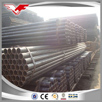 Tianjin Manufactured ASTM A53 Hot Rolled Black ERW Steel Pipe