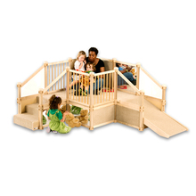 Eco-friendly educational customized daycare solid wood playground equipment